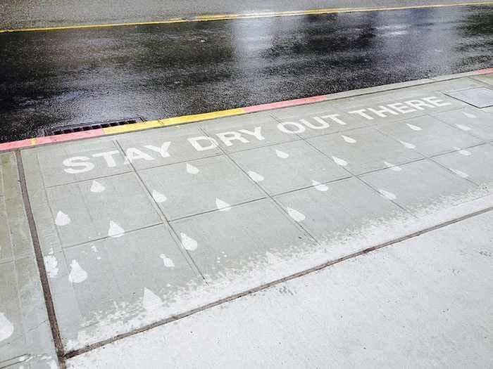 Peregrine Church Water Activated Street Art Rainworks -07